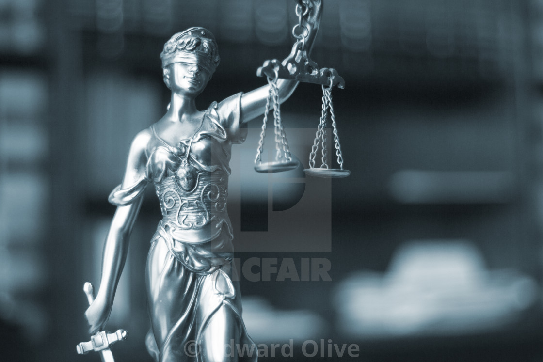 """Law office legal statue Themis"" stock image"